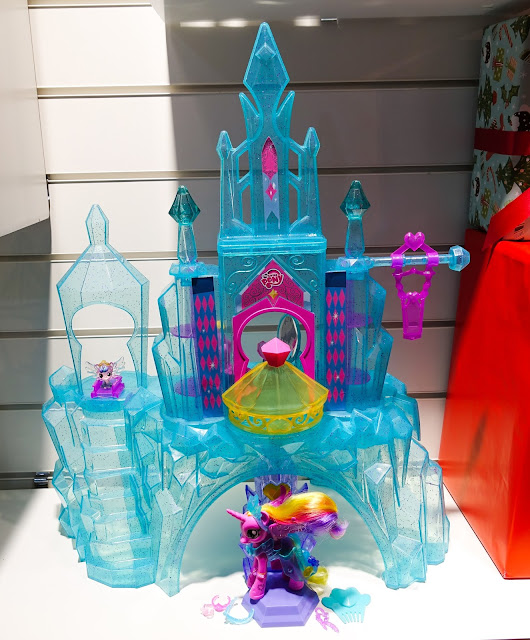 A blue plastic ice castle for My Little Pony