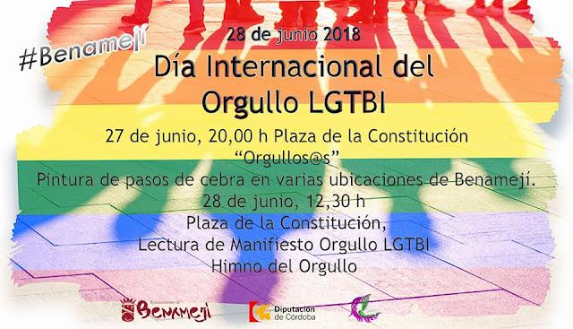 Día del Orgullo LGTBI en Benamejí 2018