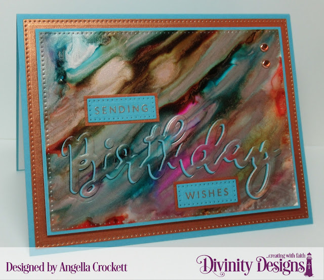 Divinity Designs: Birthday Stamp/Die Duos, Pierced Rectangles Dies, Card Designer Angie Crockett