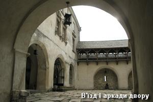 Брама і аркади у дворі замку
