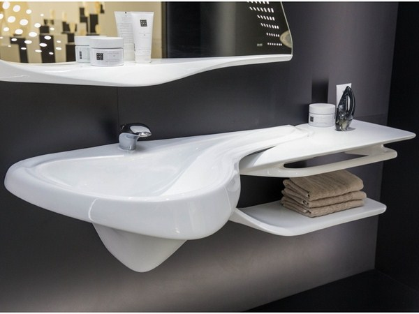 Bathroom Design Zaha Hadid Basin Sink Mirror