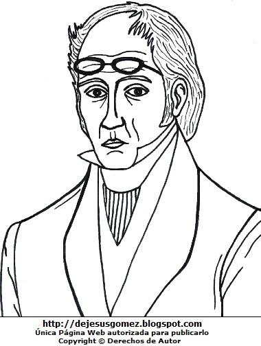 Dibujo de Simón Rodríguez para dibujar o colorear. Ilustración de Simón Rodríguez de Jesus Gómez