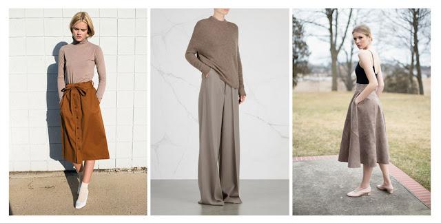 Базовая одежда серо-коричневого цвета taupe basics