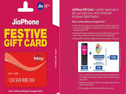Jio Phone Gift Card Launched at Rs 1095, More details here