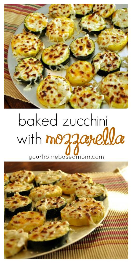 Baked Zucchini with Mozzarella #zucchini #mozzarella #veganrecipes #veggies #vegetarianrecipes #vegetablerecipes