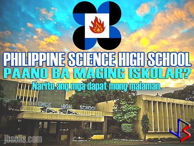 The Philippine Science High School is the country's leading science-based high school in the Asia Pacific region that provides scholarships to students with high aptitudes in science and mathematics. PSHS prepares its scholars to become globally-competitive Filipino scientists and engineers. The school system offers an education that is humanistic in spirit, global in perspective and patriotic in orientation. It is based on a curriculum that emphasizes science and mathematics, and the development of well-rounded individuals. The PSHS prepares its students for careers in Science and Technology and contributes to nation building by helping the country attain a critical mass of professionals and leaders in Science and Technology. What are the Benefits of a PSHS Scholar?  Free tuition fee Free loan of textbooks Monthly stipend of P4,000 Annual Uniform Allowance of P1,800 (for low income groups) Annual transportation allowance (for low income groups) Living allowance OR Free Dormitory Accommodation (for low income groups) Who are Eligible to Apply for Scholarship?  A grade six (6) elementary pupil from a duly recognized school by the Department of Education, who meets the following criteria is eligible to apply for the PSHS National Competitive Examination (NCE). He/She must: have a final grade of 85% or better in Science and Mathematics, evidenced by the student's report card. If the student's grades in Science or Math are below 85%, then he/she must provide evidence that he/she belongs to the upper 10% of the batch; be a Filipino citizen with no pending or approved application as immigrant to any foreign country; be born on or after August 1, 2003; have at least a satisfactory rating (or its equivalent) in his/her Character Rating in his/her report card (SY 2016-2017); not have taken the PSHS NCE previously; and preferably, be in good health and fit to undergo a rigorous academic program. What are the Requirements? Fully accomplished Application Form in two (2) copies 