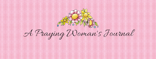A Praying Woman's Journal Facebook Cover page, Pink with Flowers