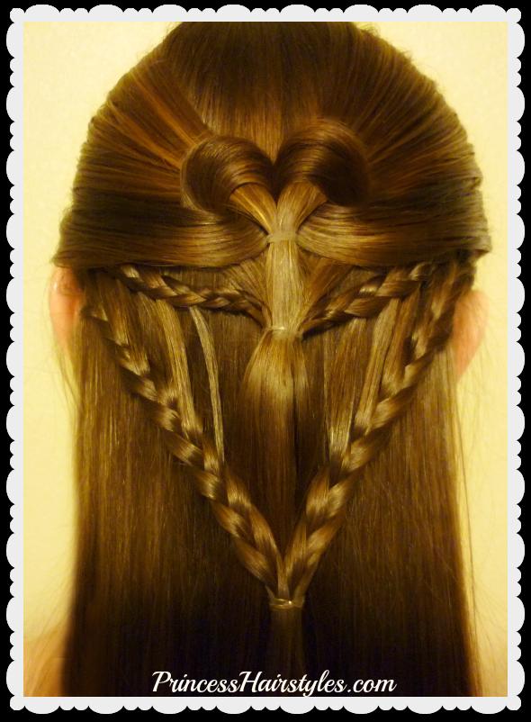 Hairstyles For Girls Princess Hairstyles Arrow Braid Heart