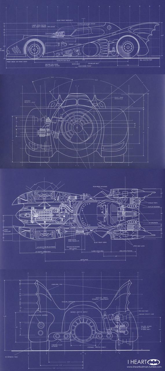 The Dork Review Rob S Room Batmobile Blueprints