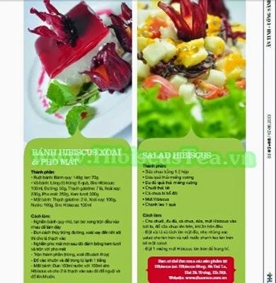 Bánh hibiscus xoài và phomat, salad hibiscus