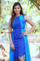 Tamil Actress Sanchita Shetty Latest Pos in Blue Dress at Yenda Thalaiyila Yenna Vekkala Audio Launch  0014.jpg