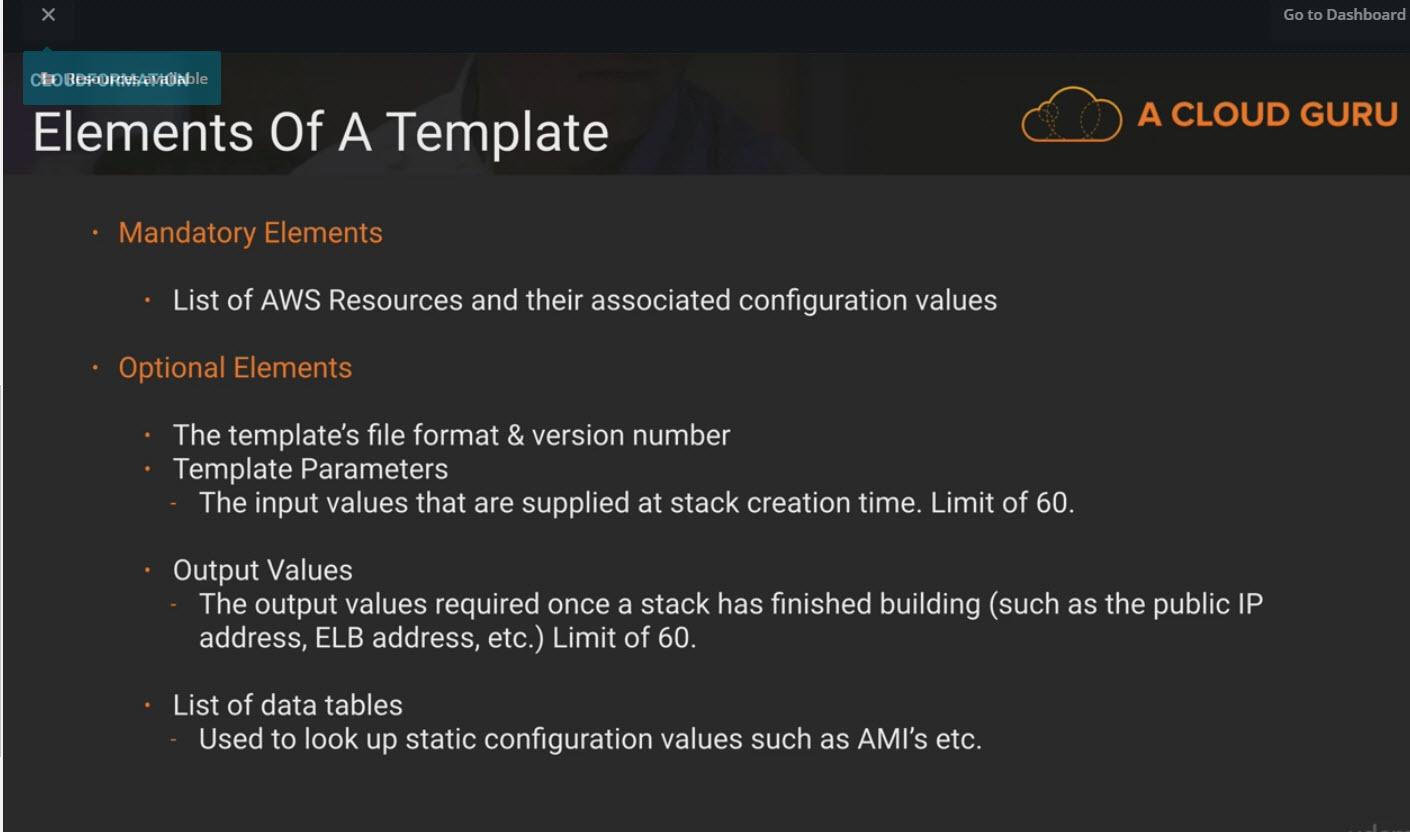 AWS Certified Developer Associate Notes - Cloud Formation