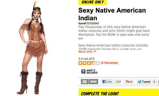 So you wanna be an Indian for Halloween? | Native Appropriations