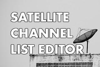 satellite channel list editor