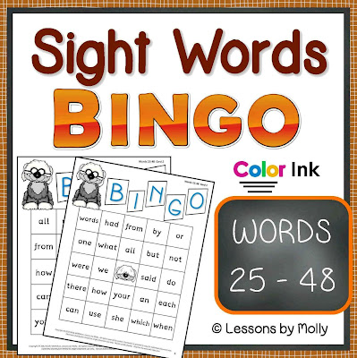 https://www.teacherspayteachers.com/Product/sight-words-BINGO-words-25-through-48-COLOR-ink-354123