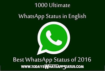 Whatsapp Status: Latest Best Whatsapp Status Ever - {1000+ Fresh 2017}