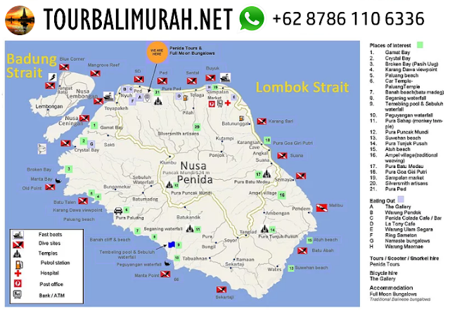 nusa lembongan tourist map