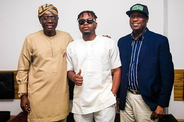 Olamide And Lyta Pictured With Babajide Sanwo-Olu And Dapo Abiodun