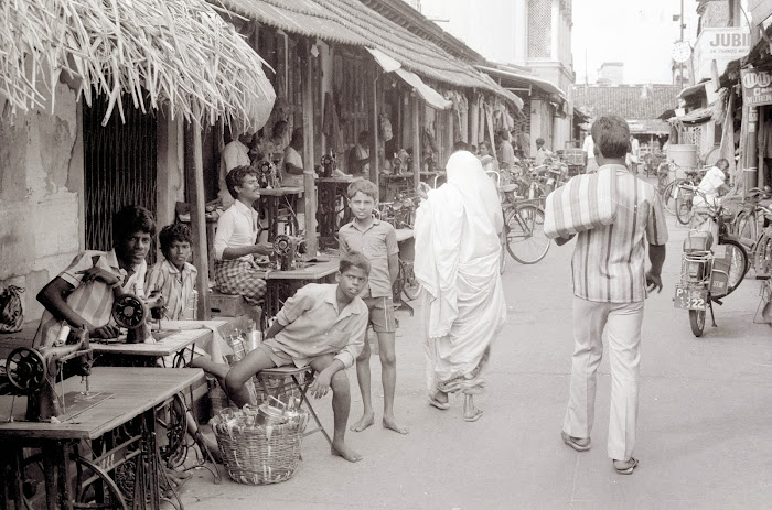 Pondichéry, Grand Bazar, © L. Gigout, 1990