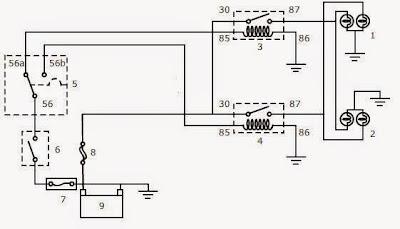 Wiring Rangkaian Lampu Kepala | Jago Otomotif