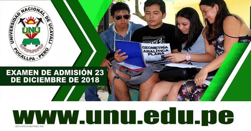 Resultados Examen UNU 2019-2 (23 Diciembre) Lista Ingresantes Admisión - Pucallpa - Aguaytia - Universidad Nacional de Ucayali - www.unu.edu.pe