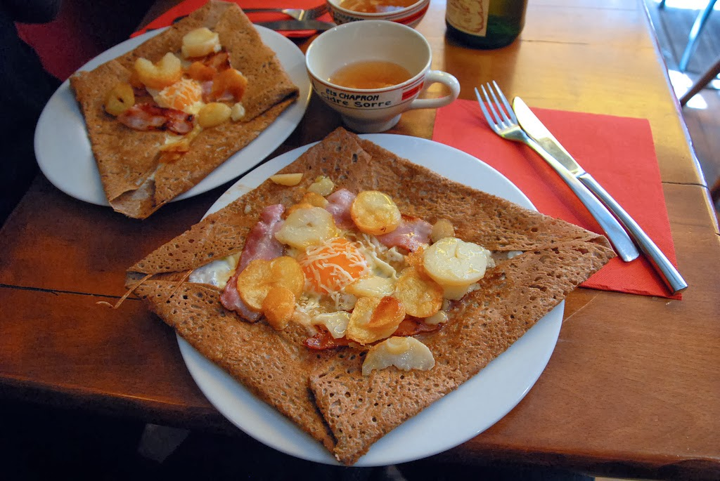 Galettes: the savoury version of French crepes