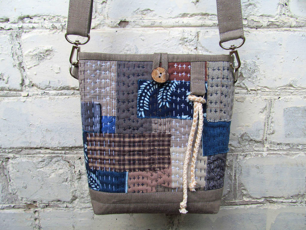 Japanese Boro Denim Tote Bag. DIY step-by-step tutorial with pictures. Мастер-класс: сумка в стиле «Боро».