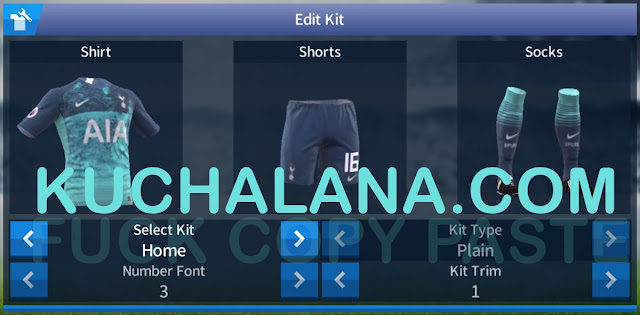 Tottenham Hotspur 2018/19 third kit dream league soccer