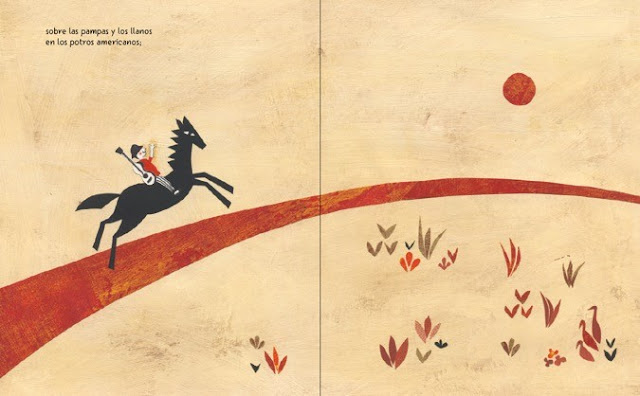 ilustración del cuento ilustrado El Canto Errante poema de Rubén Darío ilustrado por Eleonora Arroyo