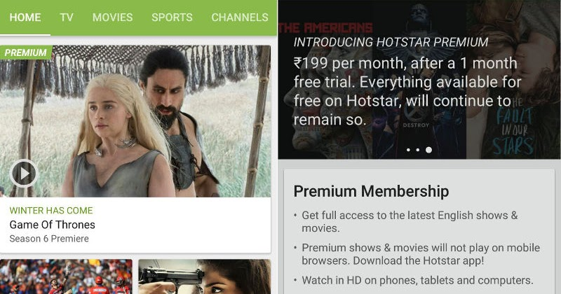Hotstar launches Premium service at Rs  199 to offer US TV shows and