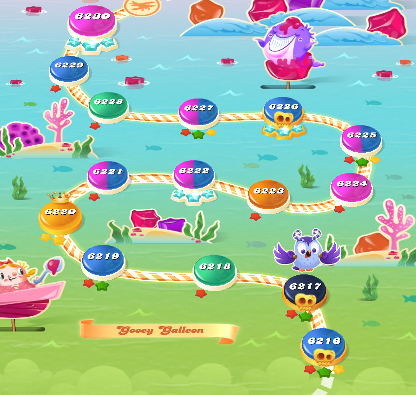 Candy Crush Saga level 6216-6230