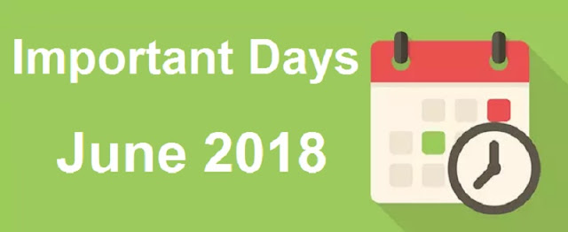 Important Days in June 2018