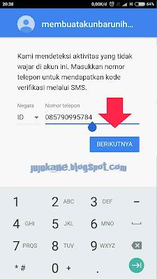 tidak dapat masuk ke server google