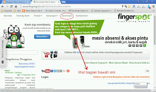 Sub menu download di website fingerspot