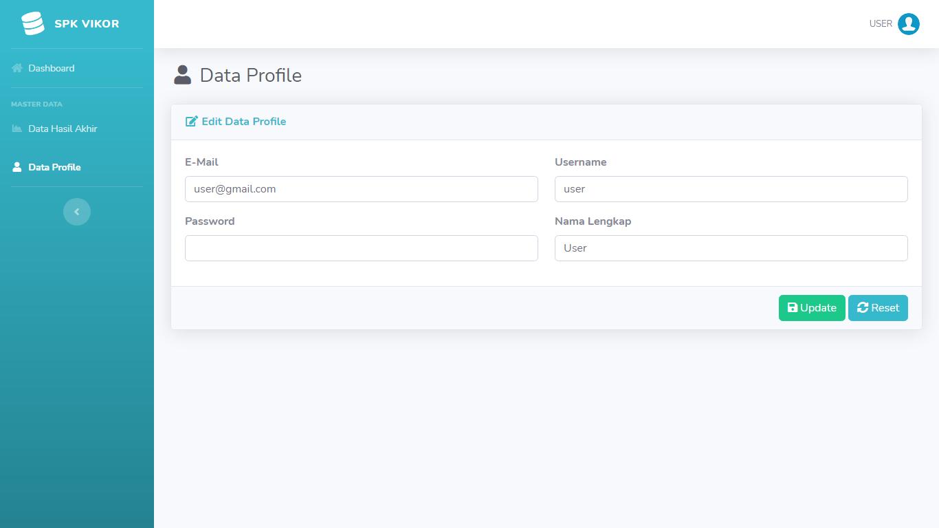 Aplikasi Sistem Pendukung Keputusan Pemilihan Karyawan/Pegawai Terbaik Metode VIKOR - SourceCodeKu.com