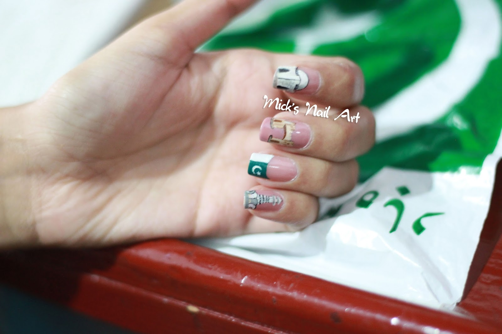 Mick's Diary: Independence Day Nail Design