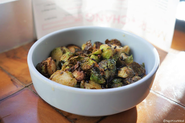 Sweet and Sour Brussels Sprouts at Myers and Chang in Boston