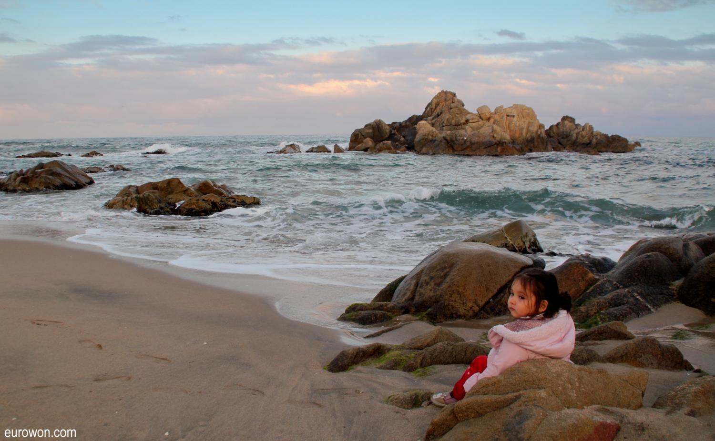 Elsa disfrutando de la costa este de Corea del Sur