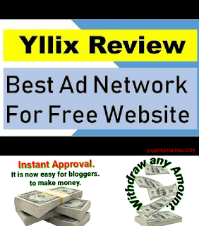 Yllix Ad Network approved new and free blog and website.