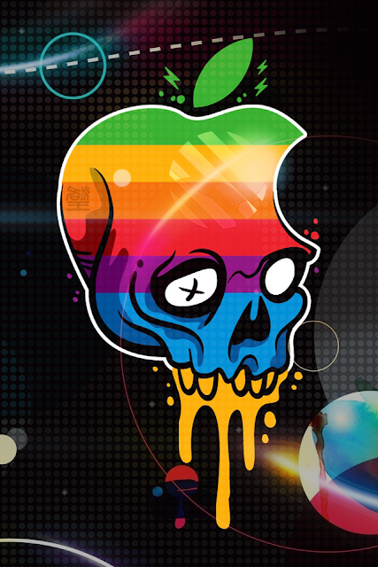 Apple Logo Skull iPhone Wallpaper By TipTechNews.com