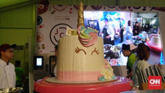 Cara buat kek unicorn, Tutorial kek unicorn, Cara mudah menghias kek unicorn, Gambar kek unicorn,