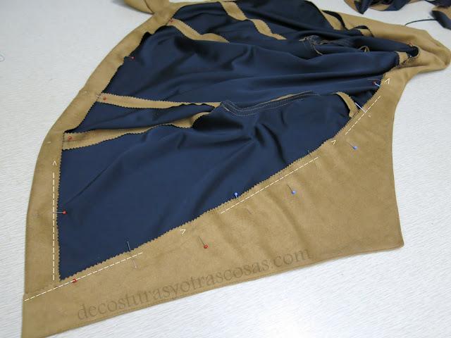 chaqueta fácil con solapa incorporada paso a paso