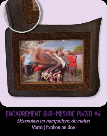 Encadrement sur-mesure en carton de photo A4 - par Cartons Dudulle