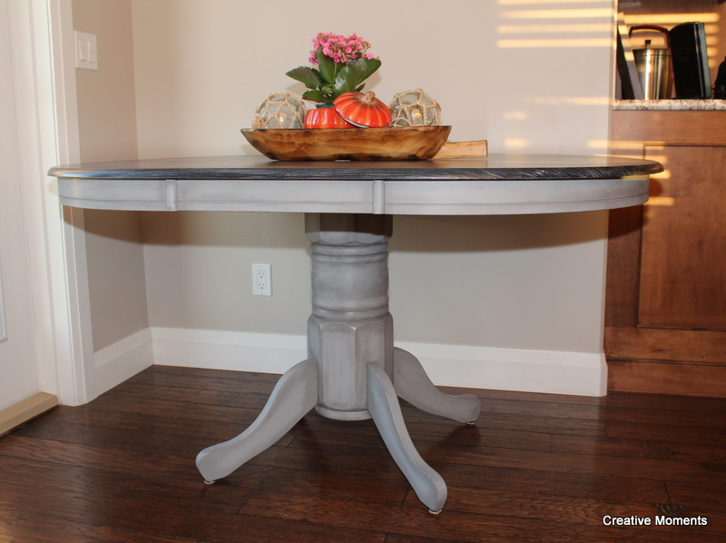 Fusion Tough Coat Was Lied In 4 Coats Over The Top To Give Table Durability