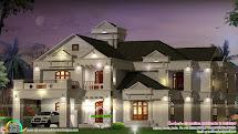 Super Luxury 6 Bedroom Villa - Kerala Home Design And