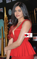 Adah Sharma in Red Deep Neck Spicy Gown ~  Exclusive 43.jpg