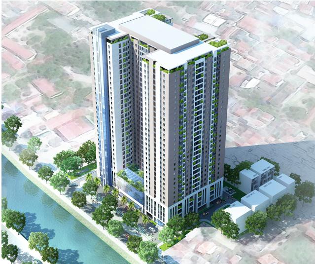 Tổng thể dự án Riverside Garden Vũ Tông Phan
