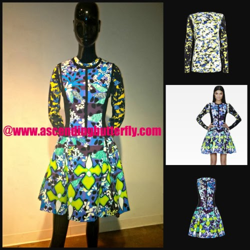 PETER PILOTTO for Target Dress in Purple Floral Print, Shirt in Green Floral Print, COLLAGE