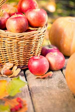 Apples are among the best healthy fall foods.