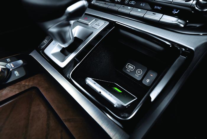 Smart phone charging station genesis g90